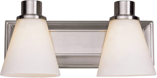 Name:Bathroom Light In Satin Nickel Finish, Item id:1310_9692 SN (Medium Image)