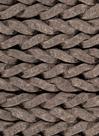 Name:Ligne Pure Dream 172.1.910 Braided Pile Knotted Felt Rug, Item id:fltd_8110_dream_172.1.910 (Medium Image)