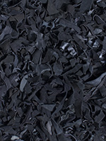 Quick Cart Image for Deluxe Leather Black 5' x 8' Shag Rug