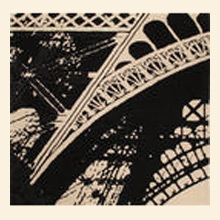 Quick Cart Image for Eiffel Black & White 7' x 7' Rug