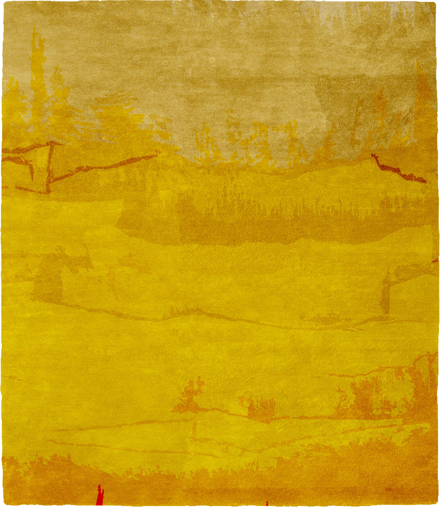 Yellow Mist Signature Rug From The Christopher Fareed